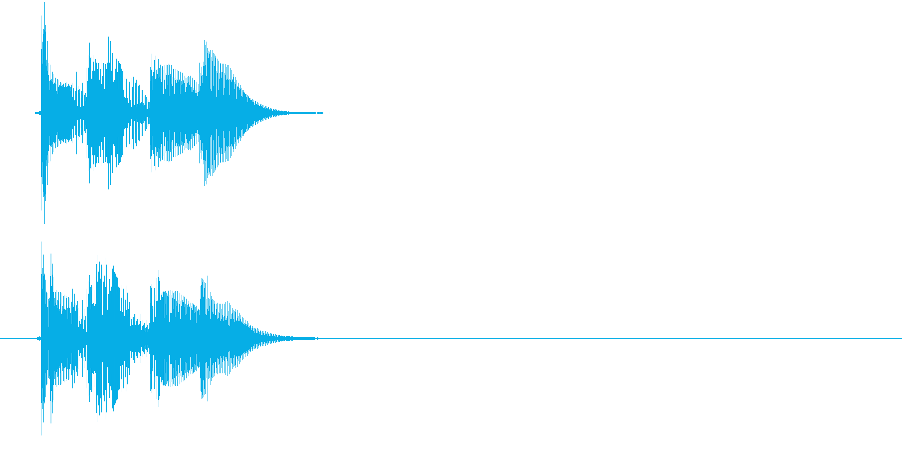 ティロリン!(決定、アプリ、ゲーム)の再生済みの波形