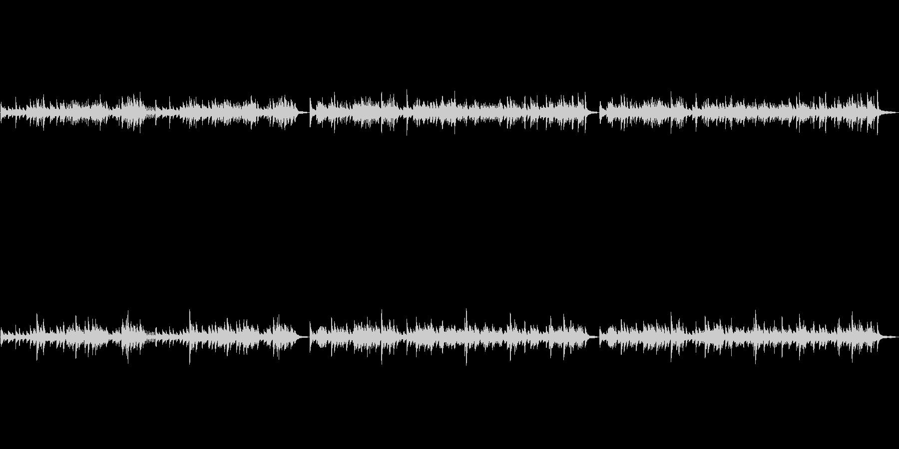 バッハのG線上のアリアをピアノ演奏での未再生の波形