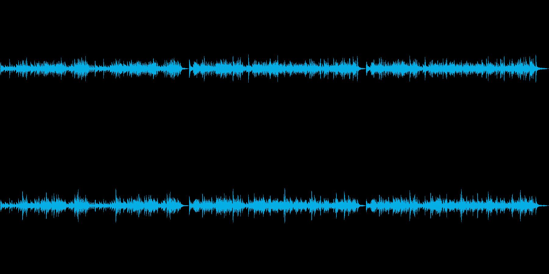 バッハのG線上のアリアをピアノ演奏での再生済みの波形