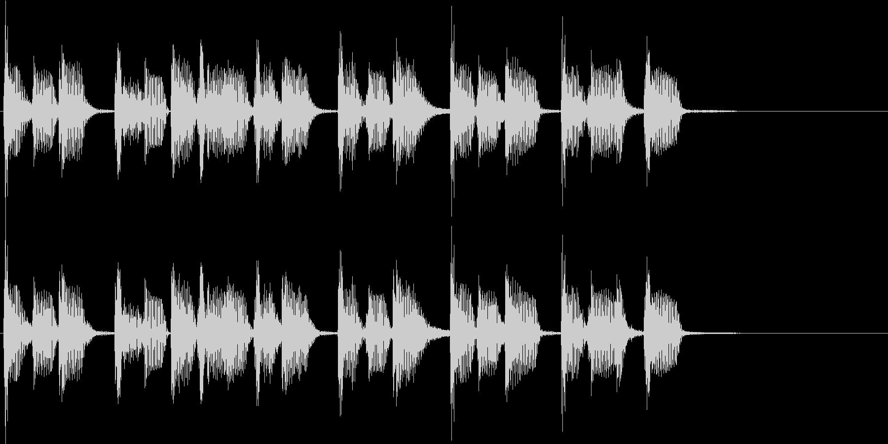 2小節ジングル03 ディスコ1の未再生の波形