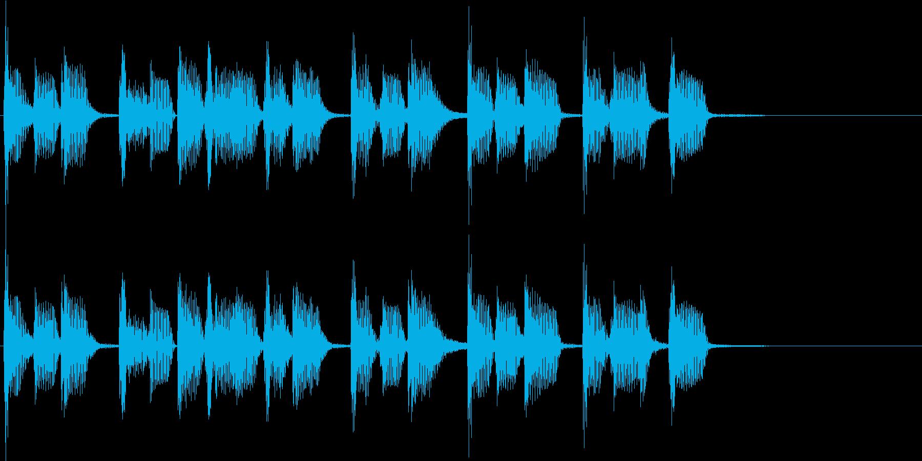2小節ジングル03 ディスコ1の再生済みの波形
