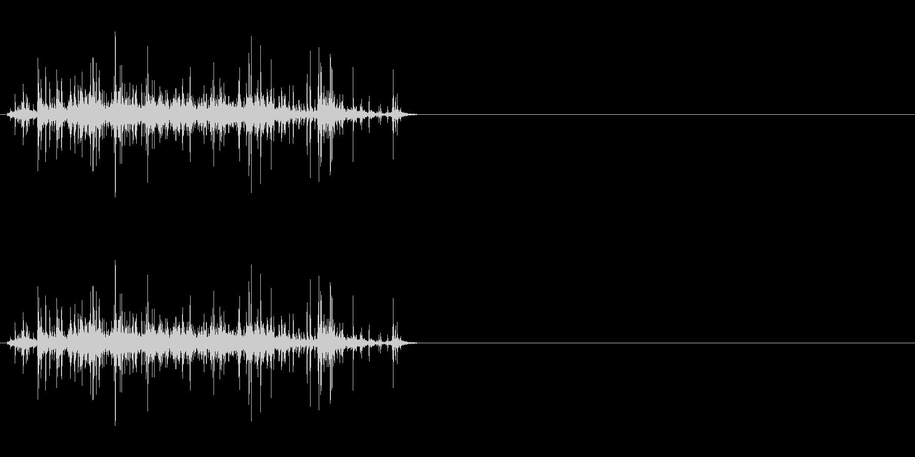 手挽きコーヒーミル 挽く音 短めの未再生の波形