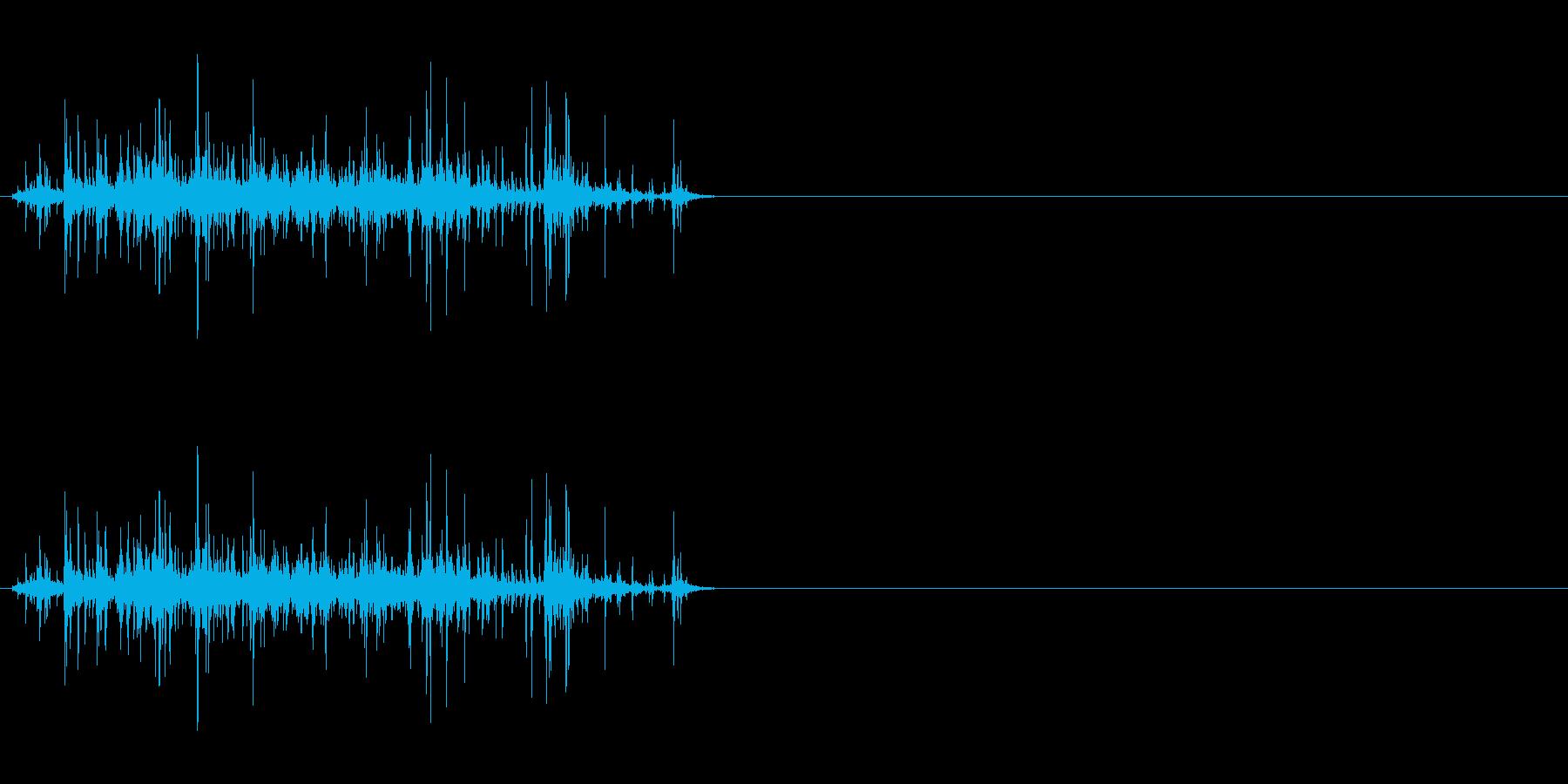 手挽きコーヒーミル 挽く音 短めの再生済みの波形