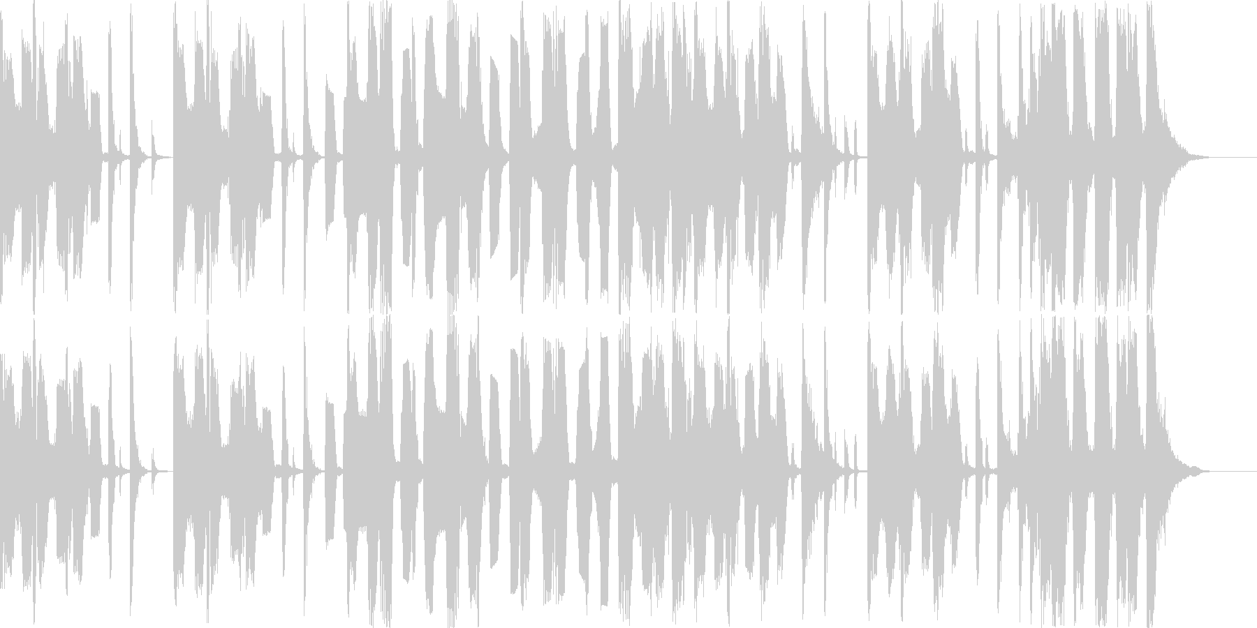 ポップテイストのBGMの未再生の波形