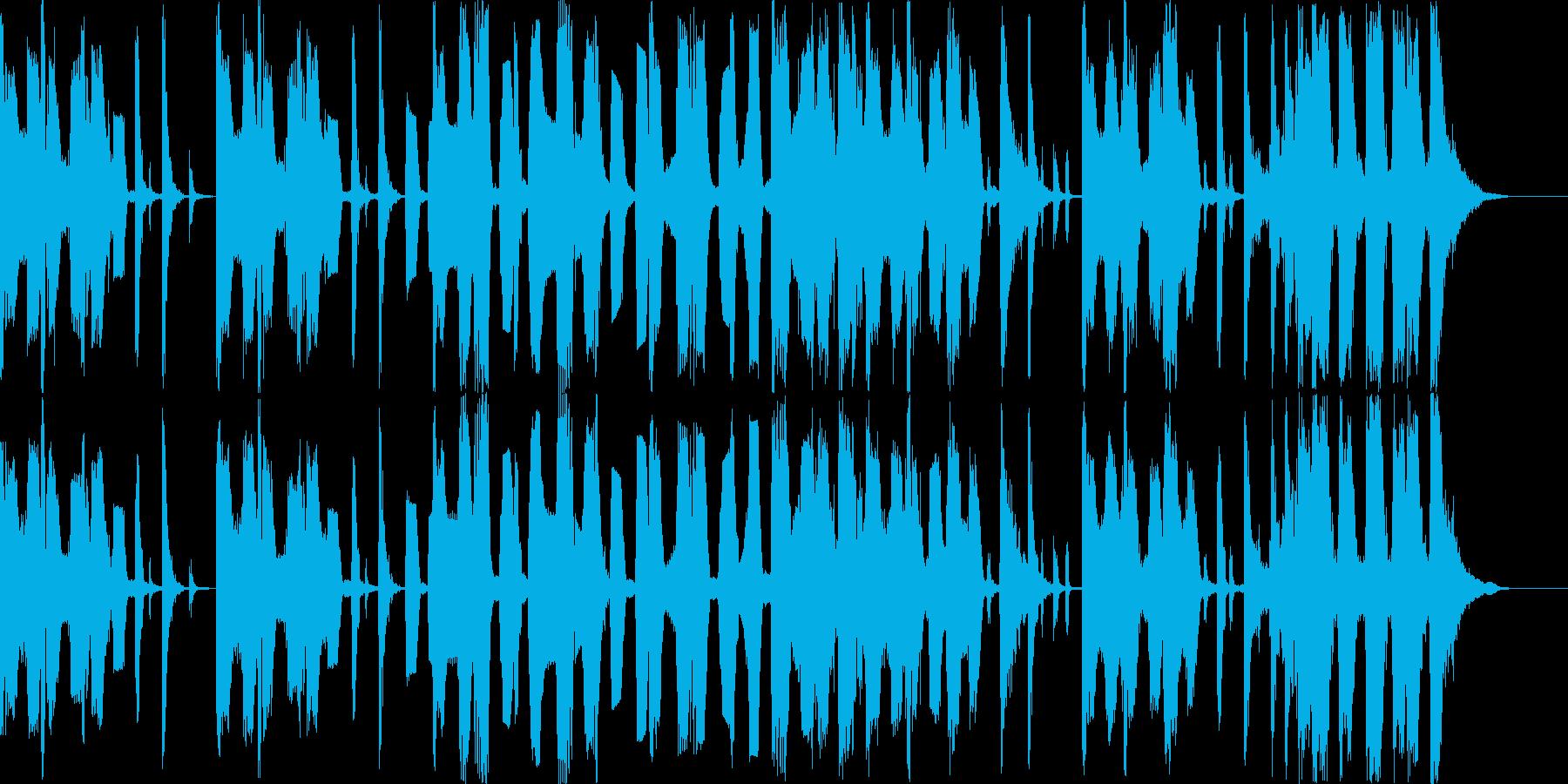 ポップテイストのBGMの再生済みの波形