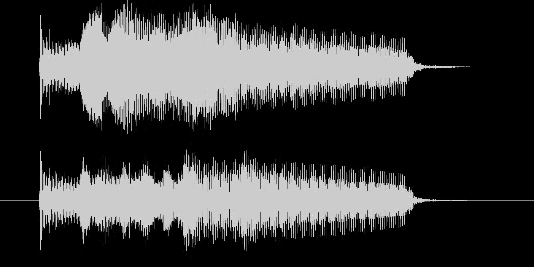 ピアノ・ベル系・優しいジングルの未再生の波形