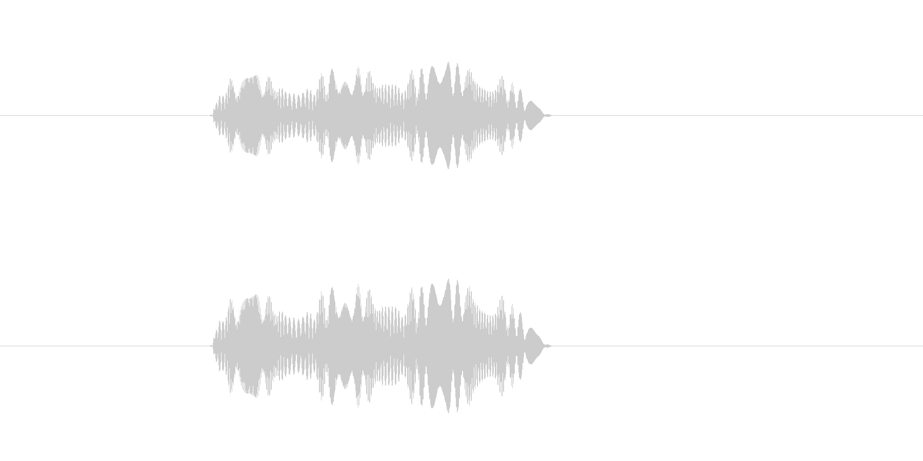 ヒュッヒュッヒュ(不思議なものが動く音)の未再生の波形