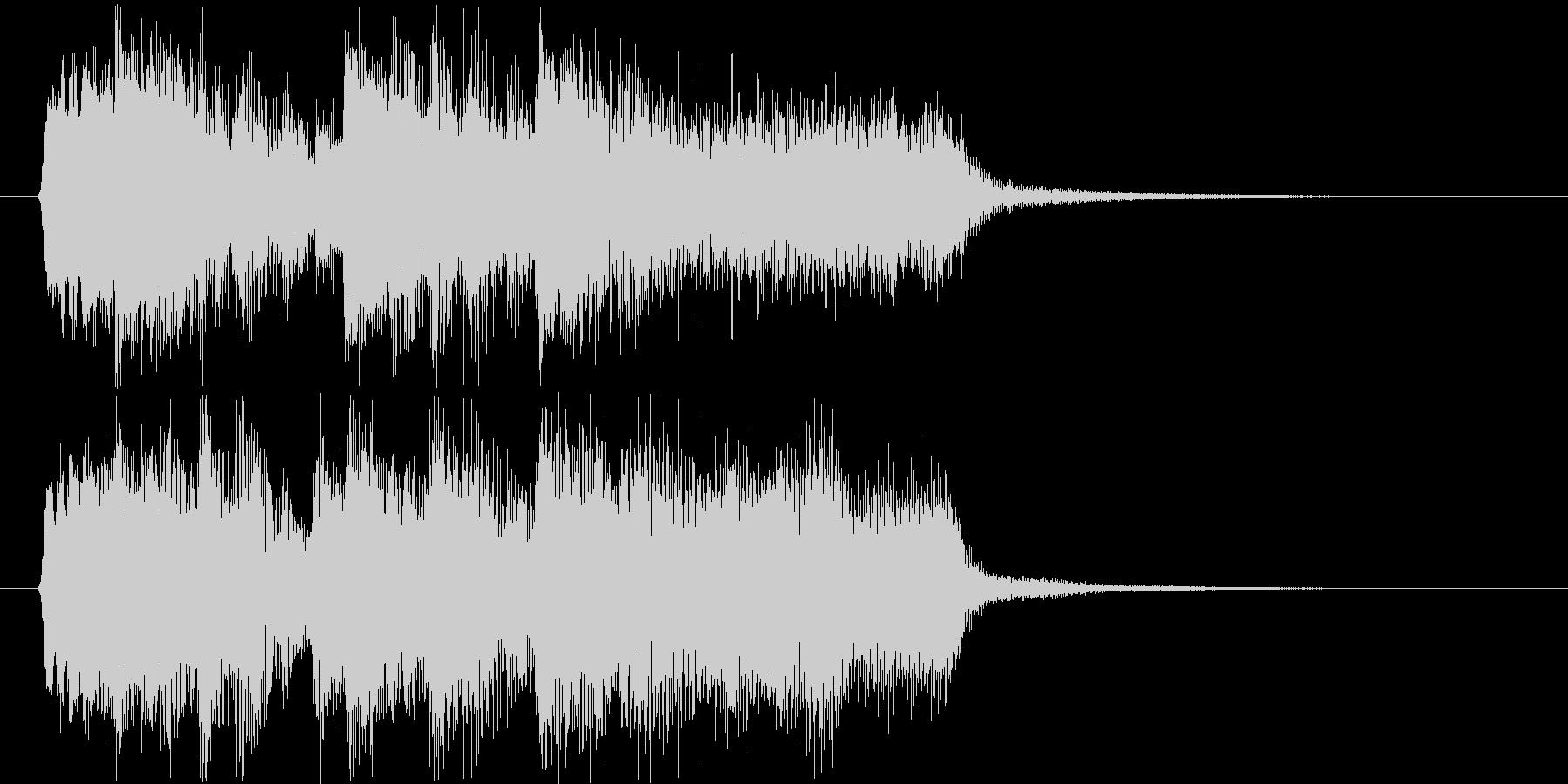 勢いのあるシンセサイザーなど短めジングルの未再生の波形