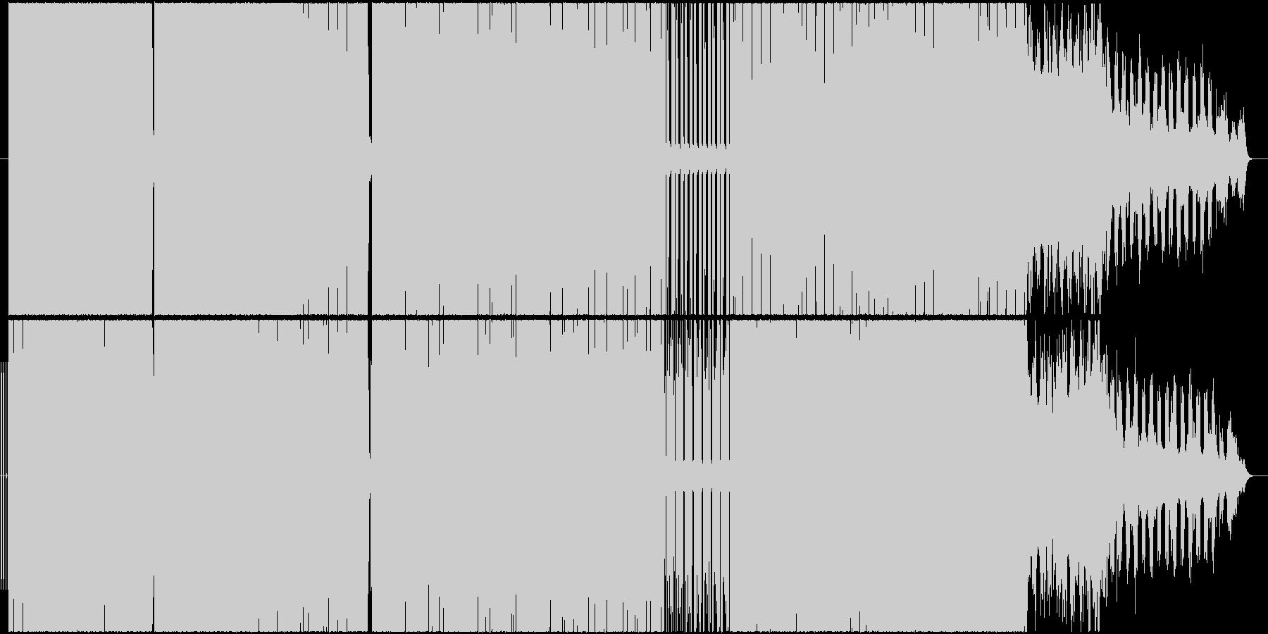 激しいビートと激しいサウンドの未再生の波形