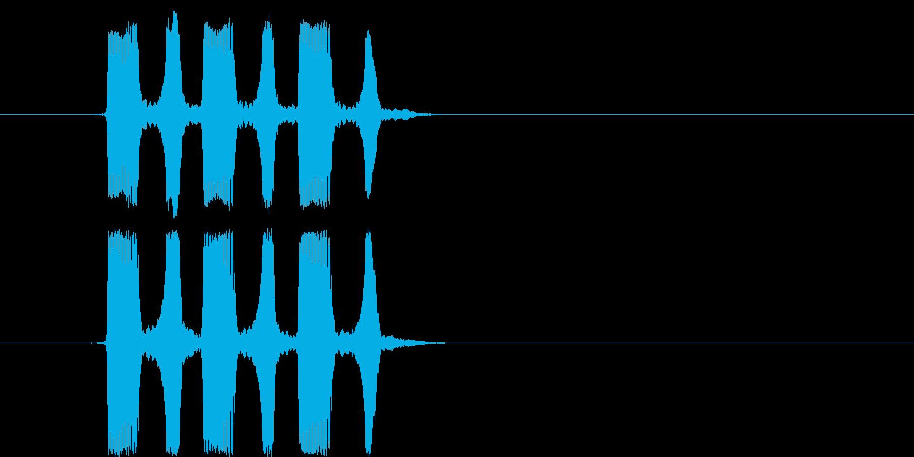 パフッパフッパフッ(生音3回)の再生済みの波形