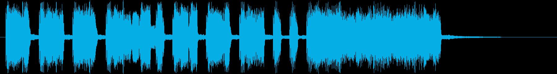 昔話や童話に便利なショートソングの再生済みの波形