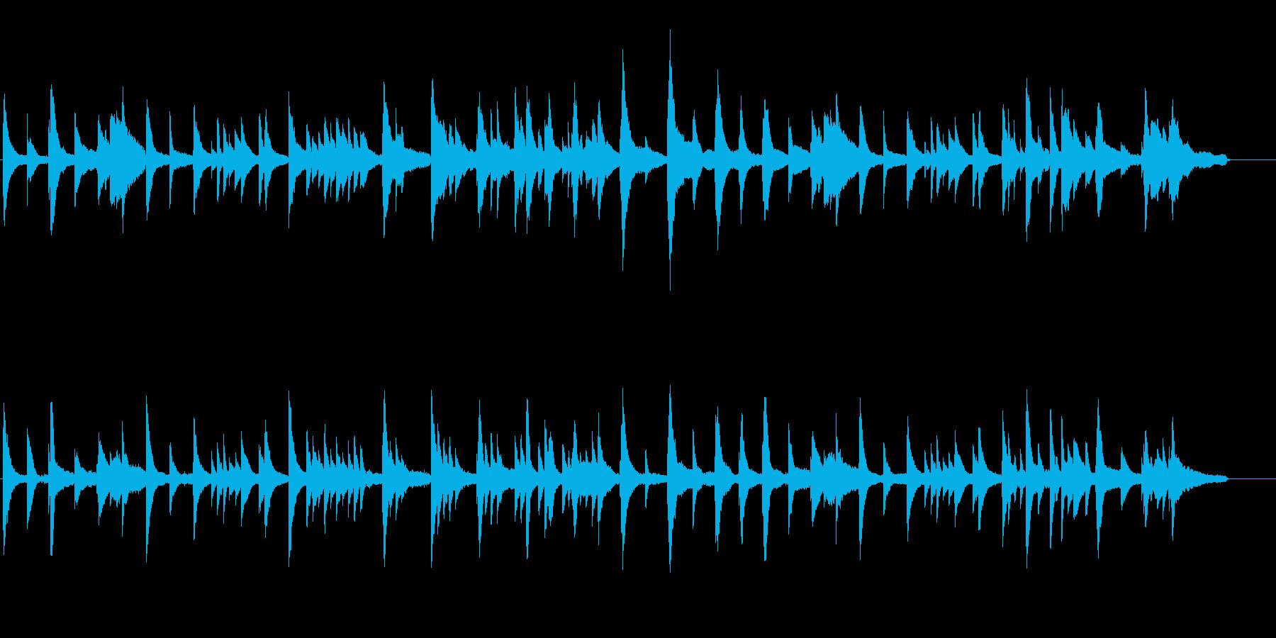 しっとりとしたピアノ曲。映画の1シーンにの再生済みの波形