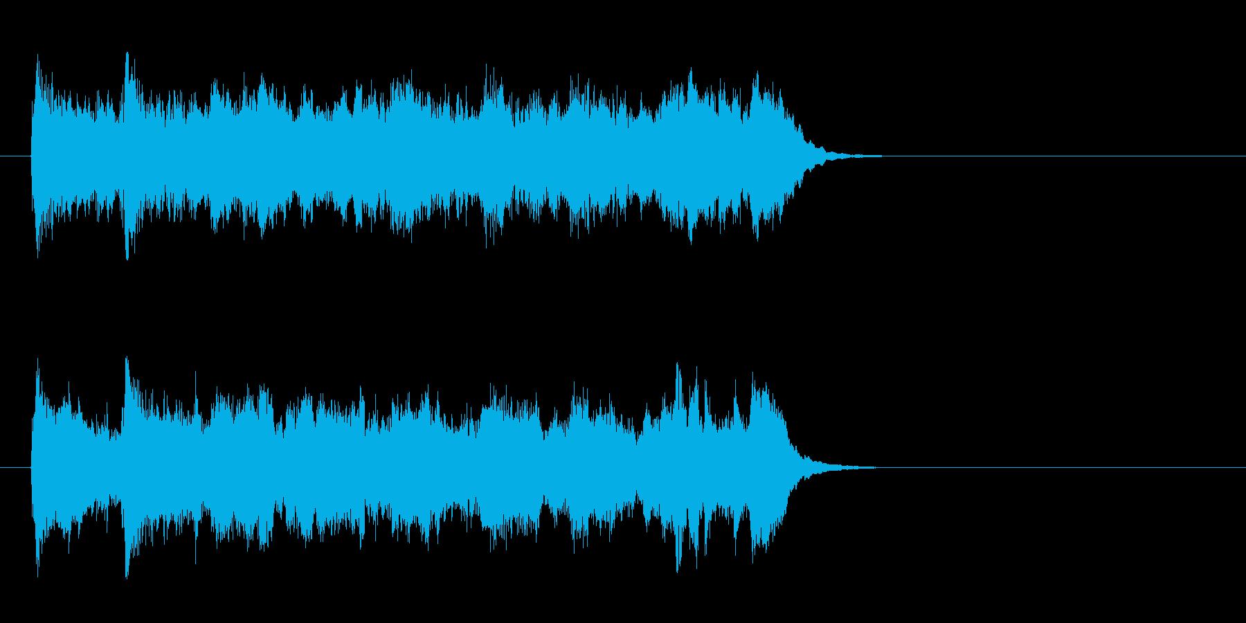 ワルツなセミクラ風ポップ(サビ)の再生済みの波形
