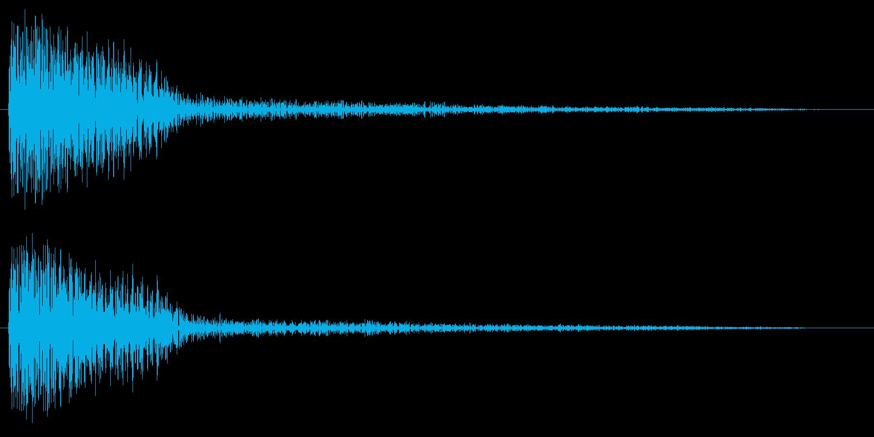 ゴーン(鐘や金属の音)の再生済みの波形