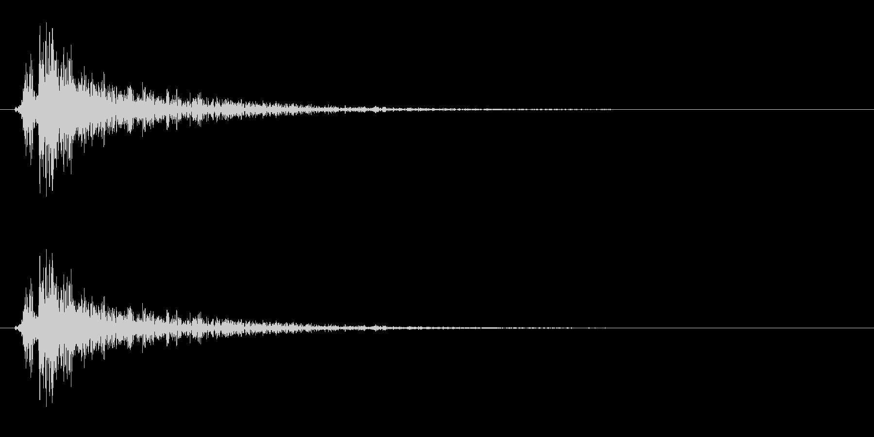 パンッ(ハリセン、おもちゃの鉄砲)の未再生の波形