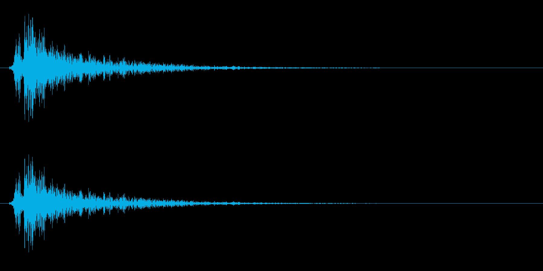 パンッ(ハリセン、おもちゃの鉄砲)の再生済みの波形