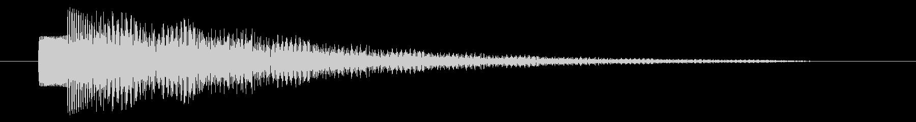 決定音/SF系/宇宙/エコーの未再生の波形