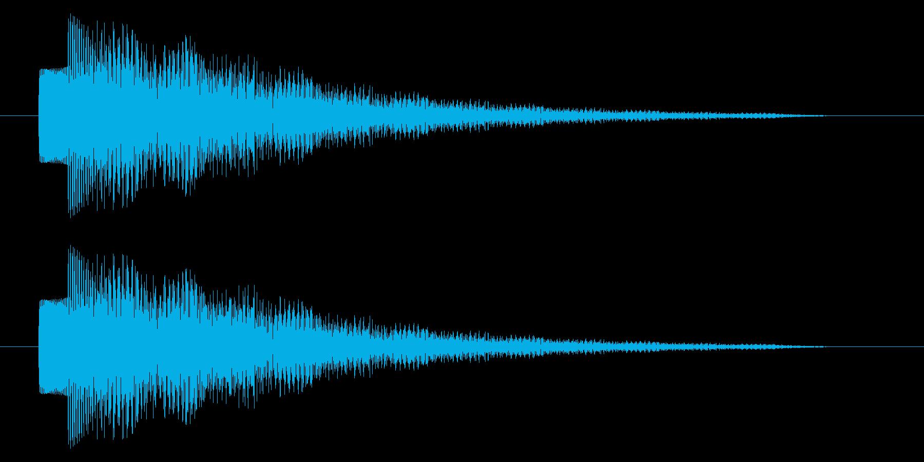 決定音/SF系/宇宙/エコーの再生済みの波形