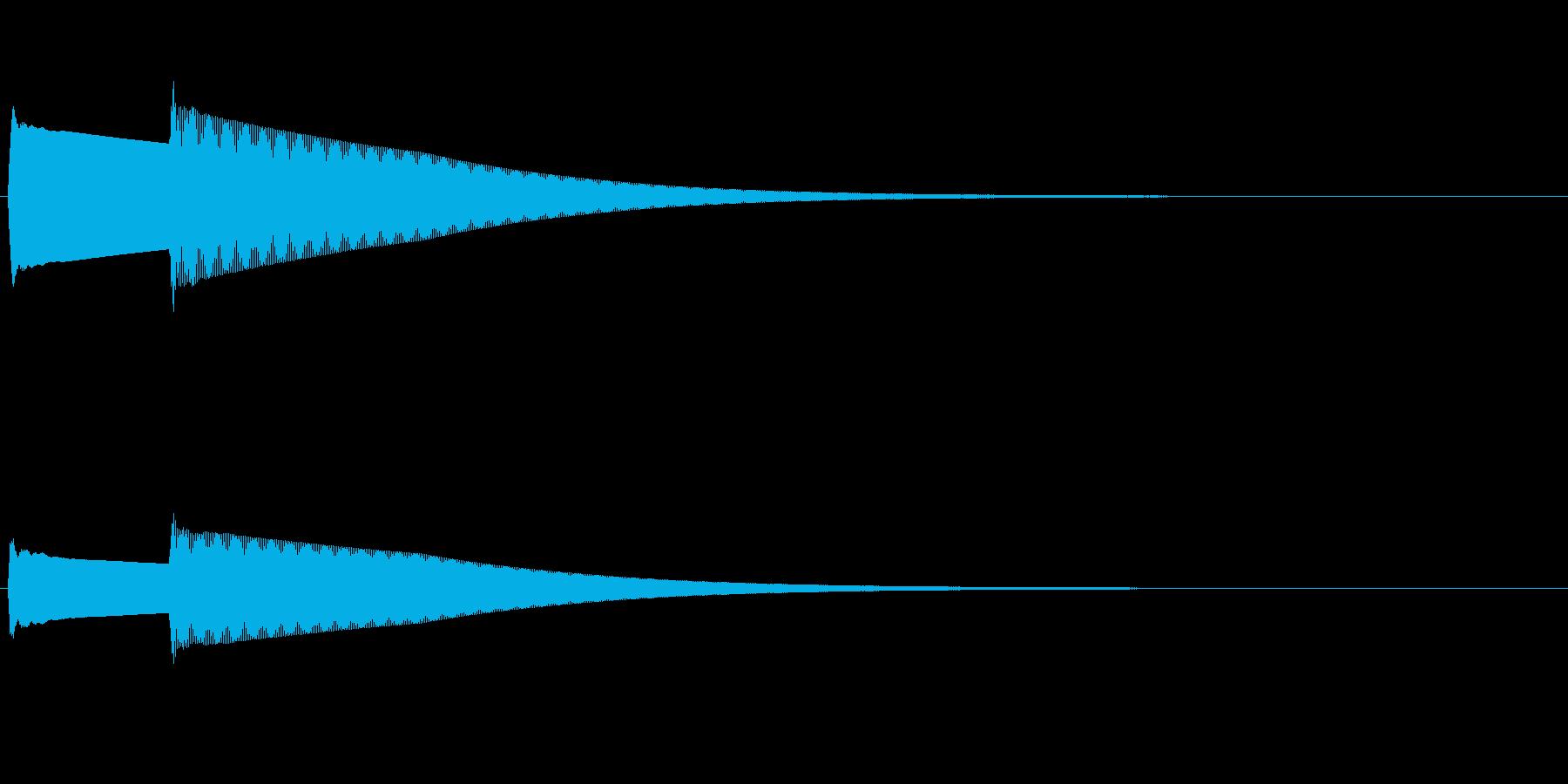 ぴーんぽーん/玄関のインターホン綺麗な音の再生済みの波形