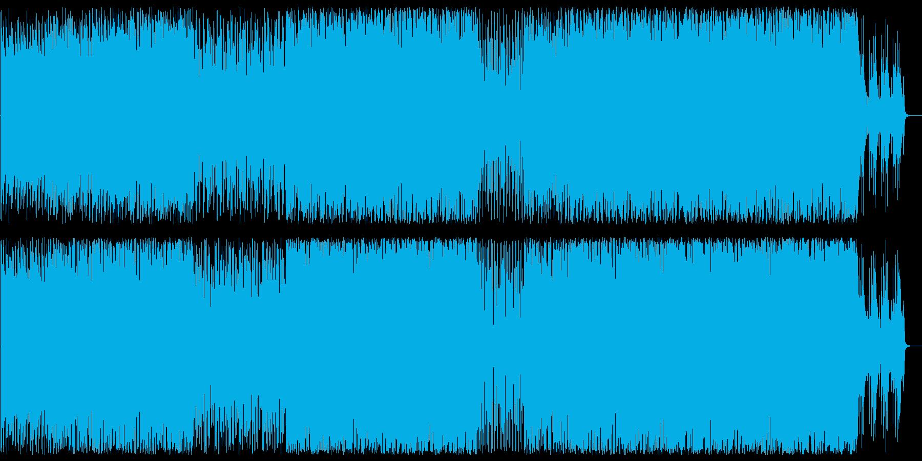 ムーディでオシャレなアコギとピアノBGMの再生済みの波形