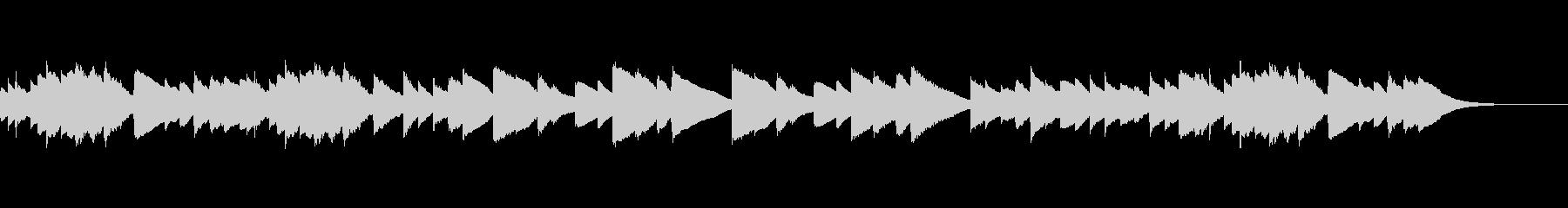 感動的で温かい癒しのチェレスタ曲(1分弱の未再生の波形