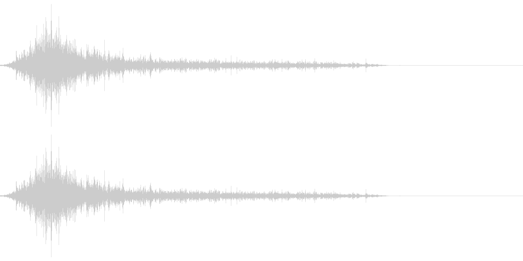 ゾンビやモンスターの唸り声/叫び声19bの未再生の波形