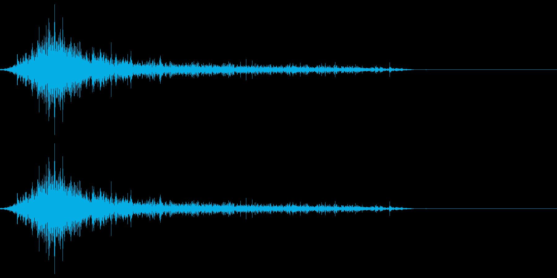 ゾンビやモンスターの唸り声/叫び声19bの再生済みの波形