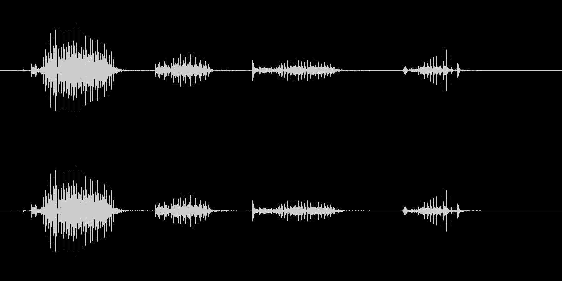 【日数・経過】10日経過の未再生の波形