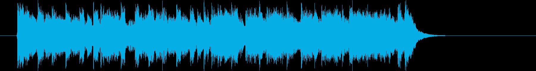 アップテンポで軽快なトランペットジングルの再生済みの波形
