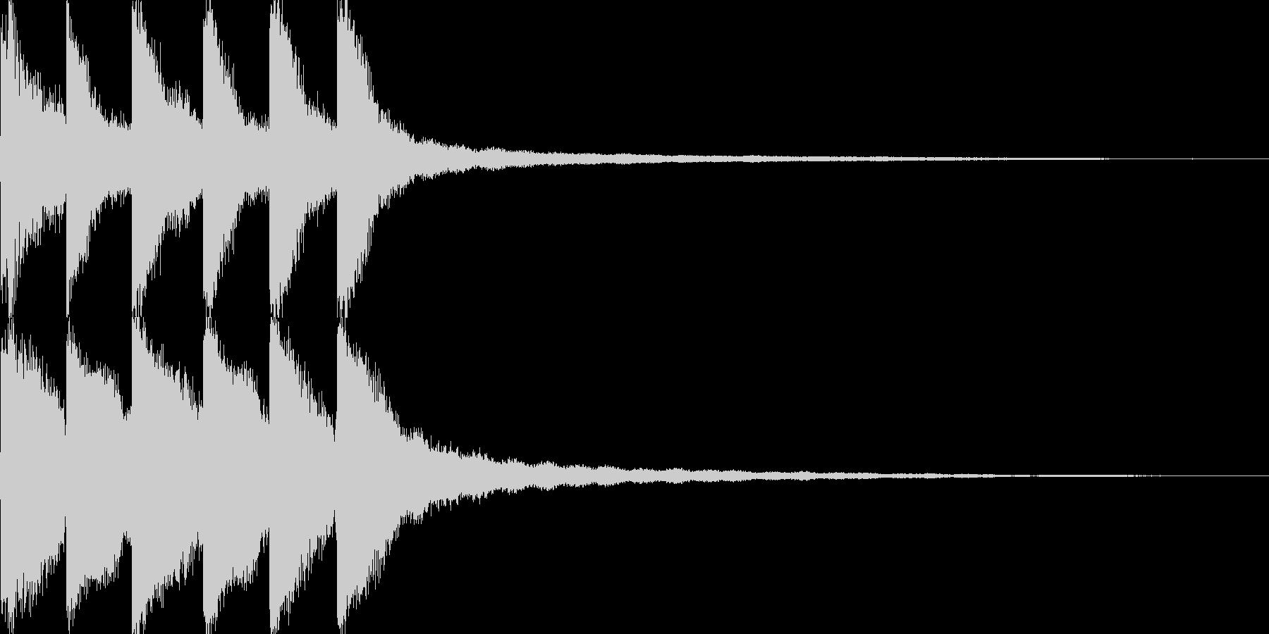 試合終了のゴングの未再生の波形