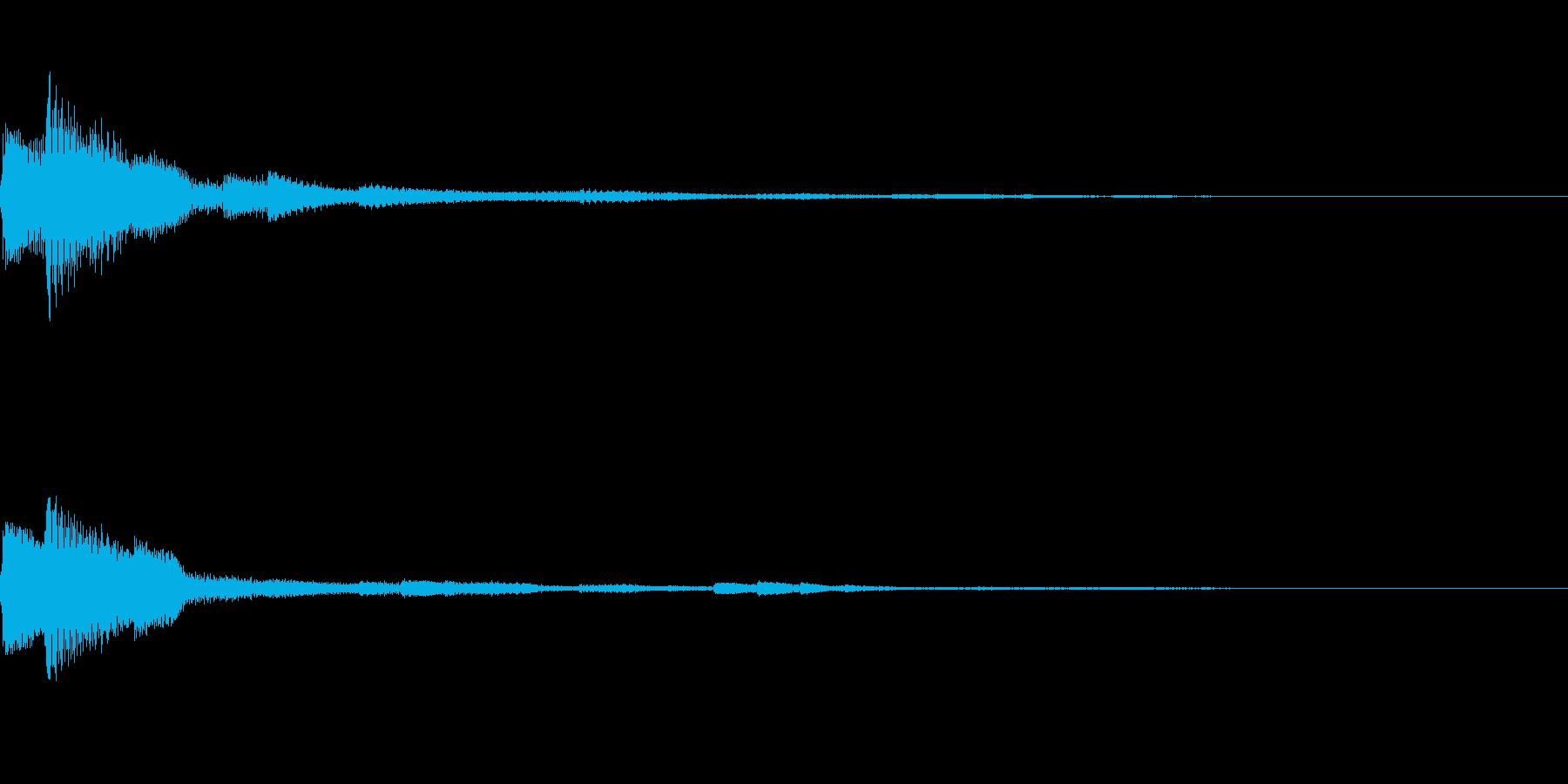 アプリなどに使える 決定効果音01の再生済みの波形