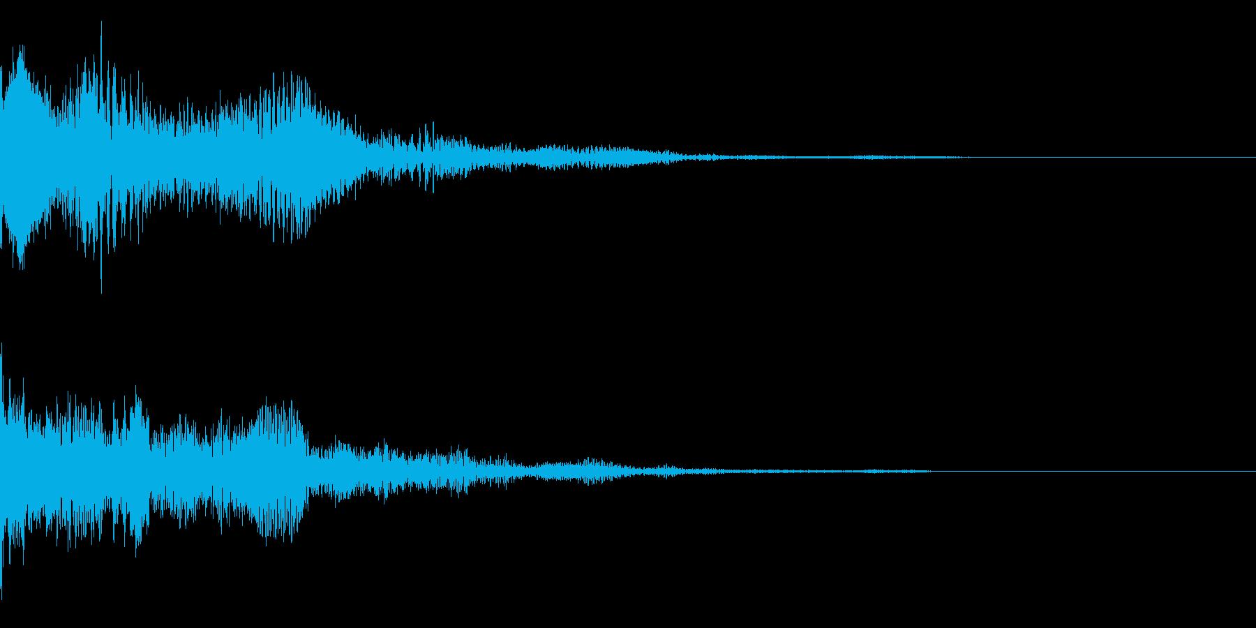 サイバー、効果、タイトルの再生済みの波形