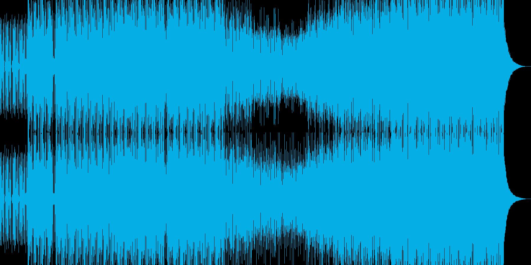 ブレイクビーツBGM3の再生済みの波形