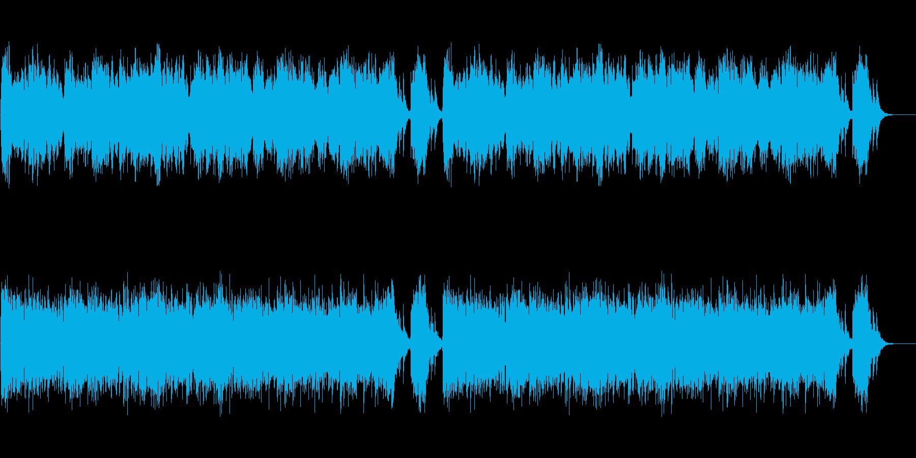 ファンタジー系ショートミュージックの再生済みの波形