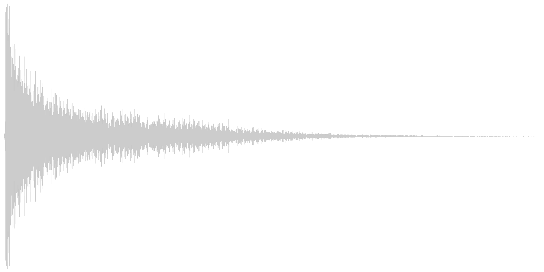 ゴーン。驚愕・ショックの音(低)の未再生の波形