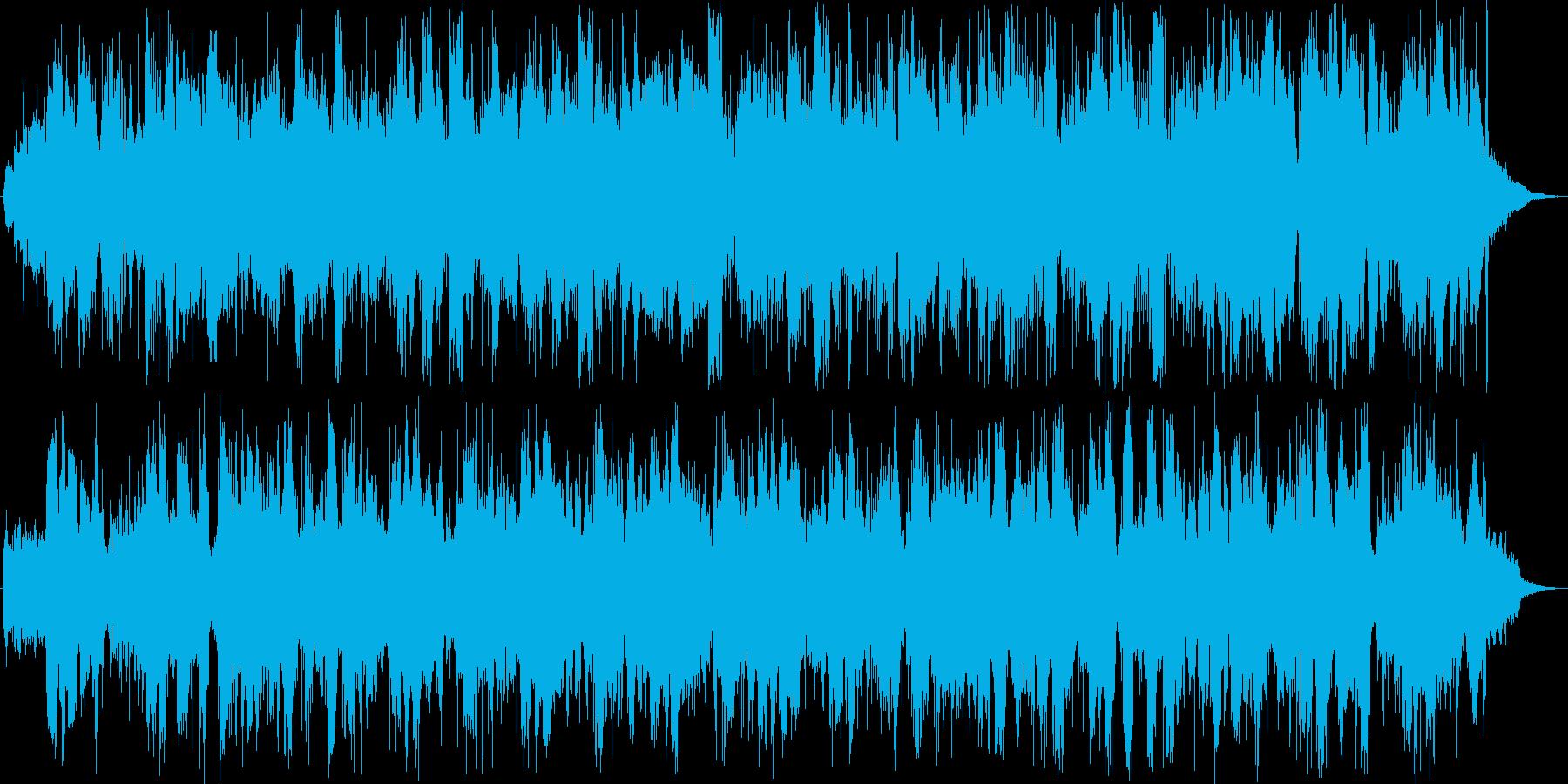 いろいろなモノがぶつかり合っています。の再生済みの波形