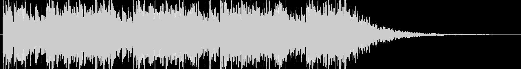 Dubstep風のジングルの未再生の波形