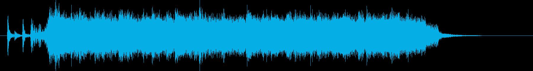 90年代ハードロック風ジングルの再生済みの波形