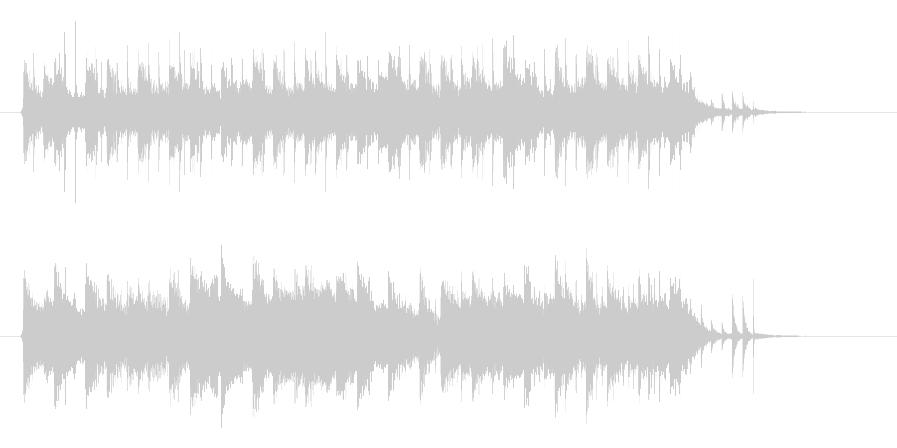 クールなシンセのテクノポップスのジングルの未再生の波形