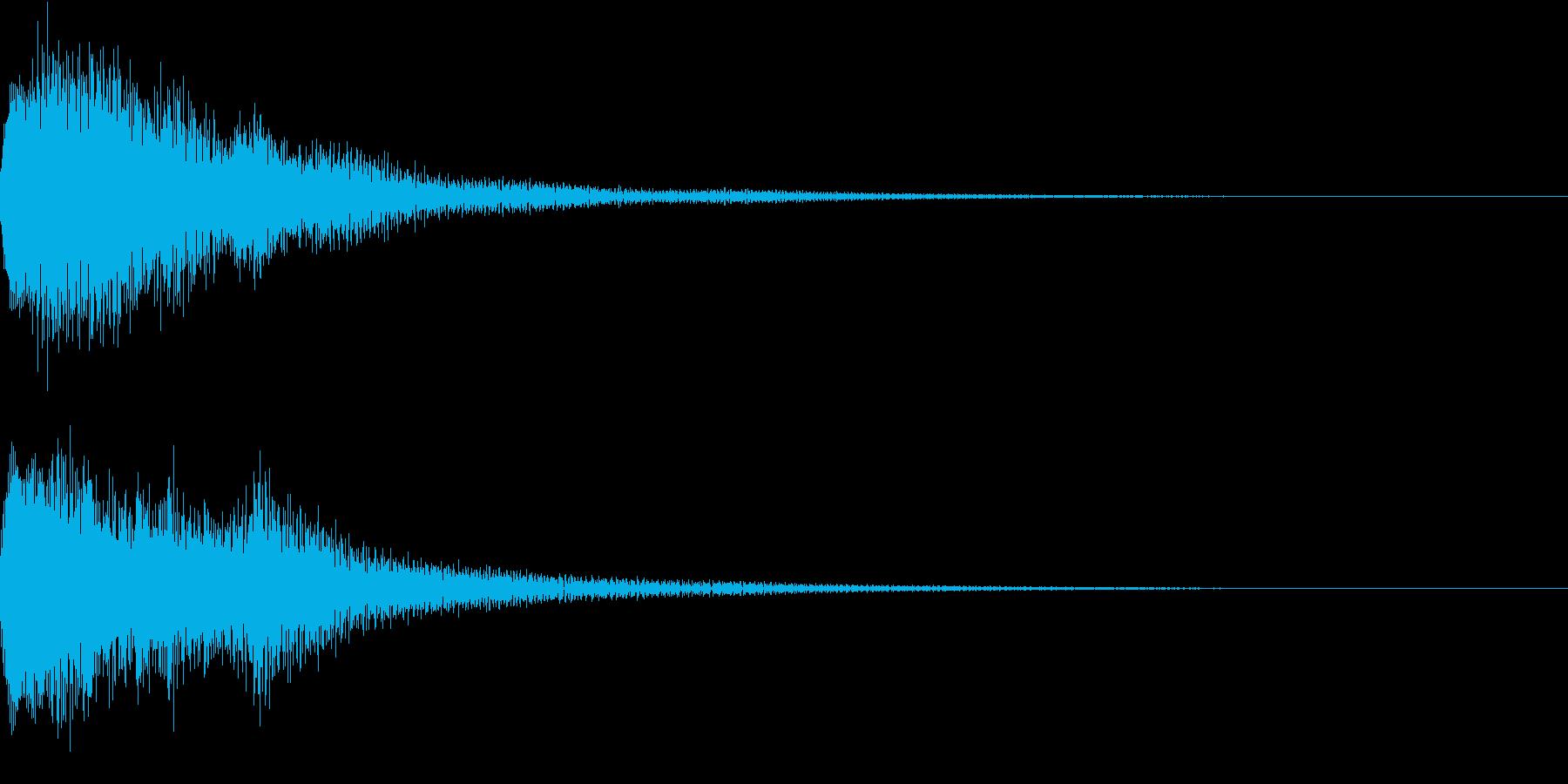 和風 琴 駆け上がり1 長めの再生済みの波形
