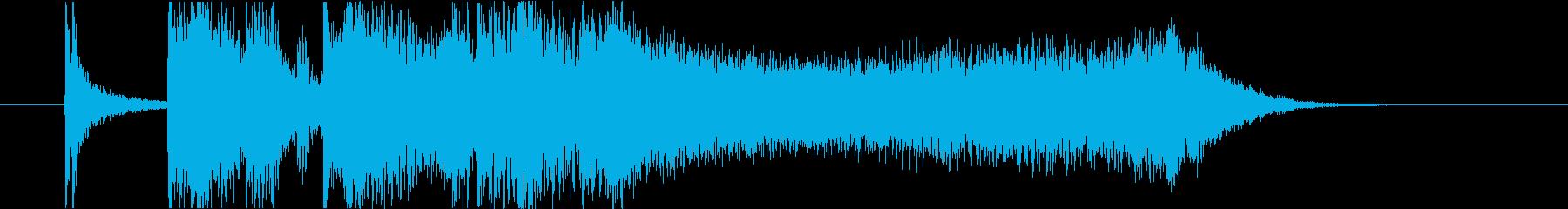 流麗なストリングスが特徴のジングルの再生済みの波形