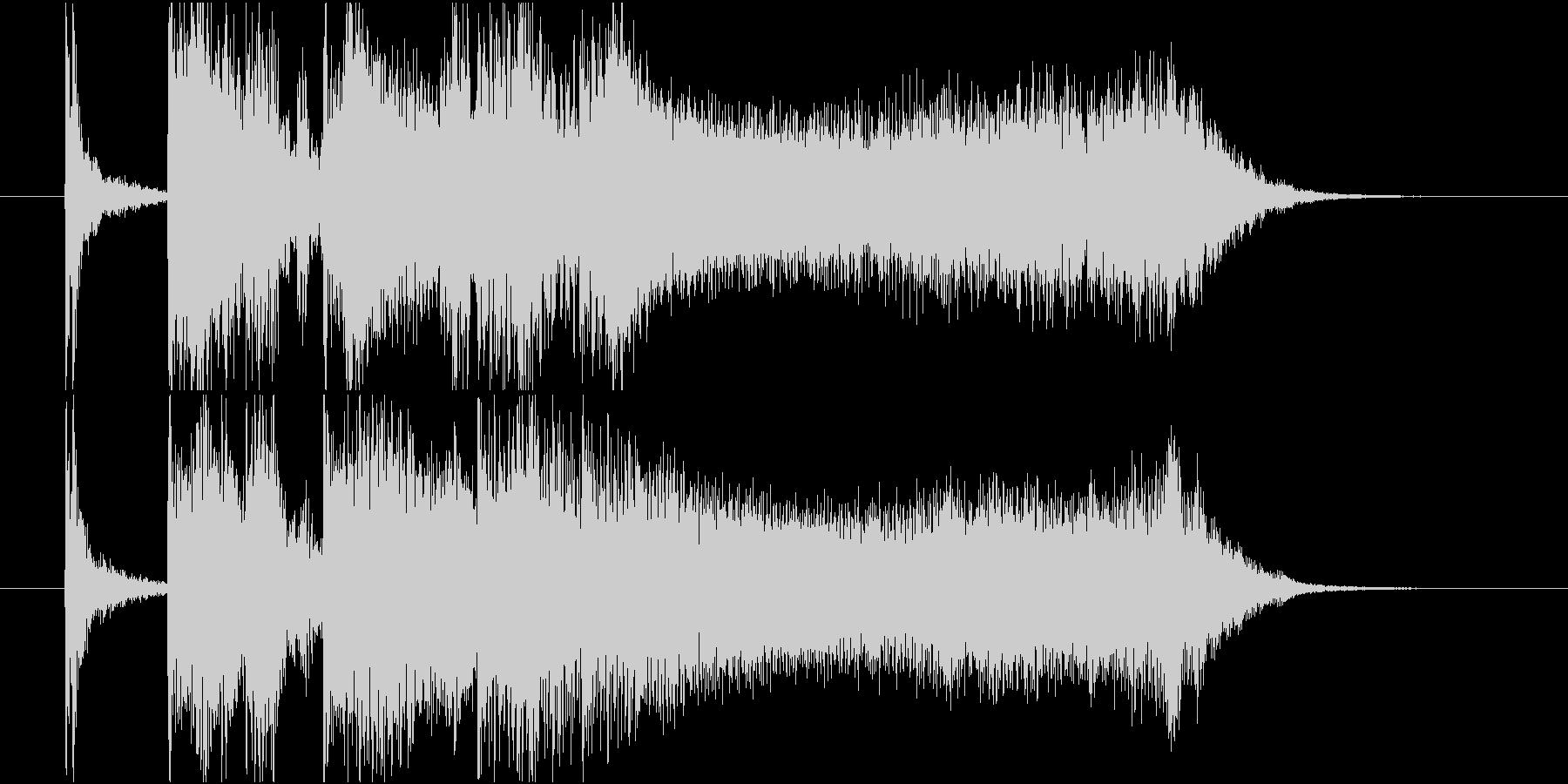 流麗なストリングスが特徴のジングルの未再生の波形