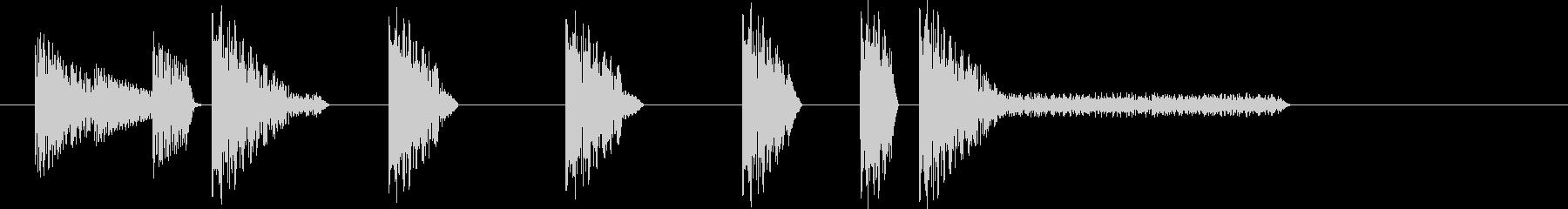 レトロゲーム風・スタート#5の未再生の波形