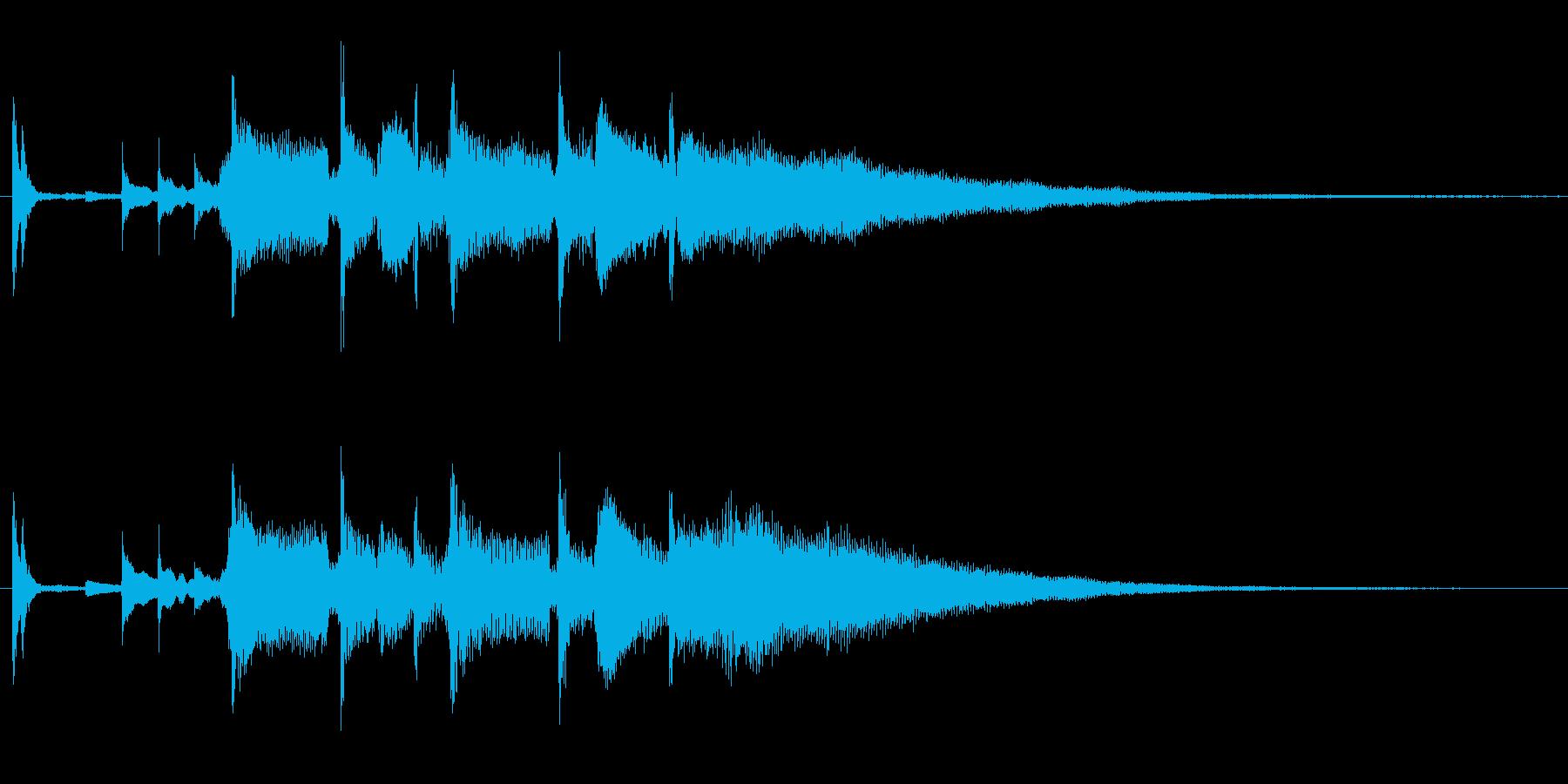 ジャジーなジングルの再生済みの波形