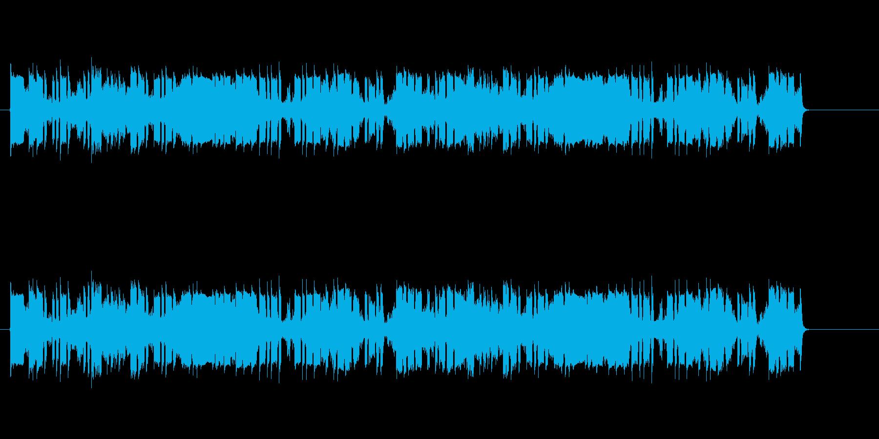 ジリリピボボ・・(騒がしい通信音)の再生済みの波形