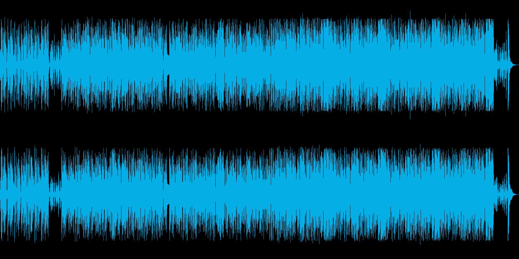 シンセの軽快なアップテンポの爽快感ある曲の再生済みの波形