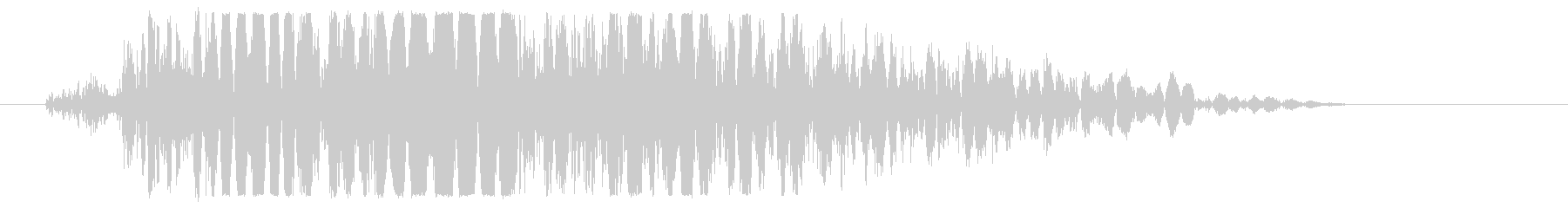 強キック 打撃音 01Hの未再生の波形