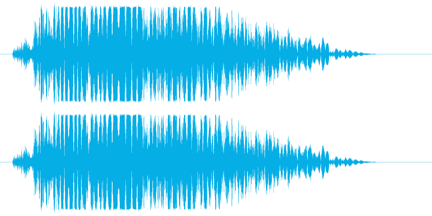 強キック 打撃音 01Hの再生済みの波形