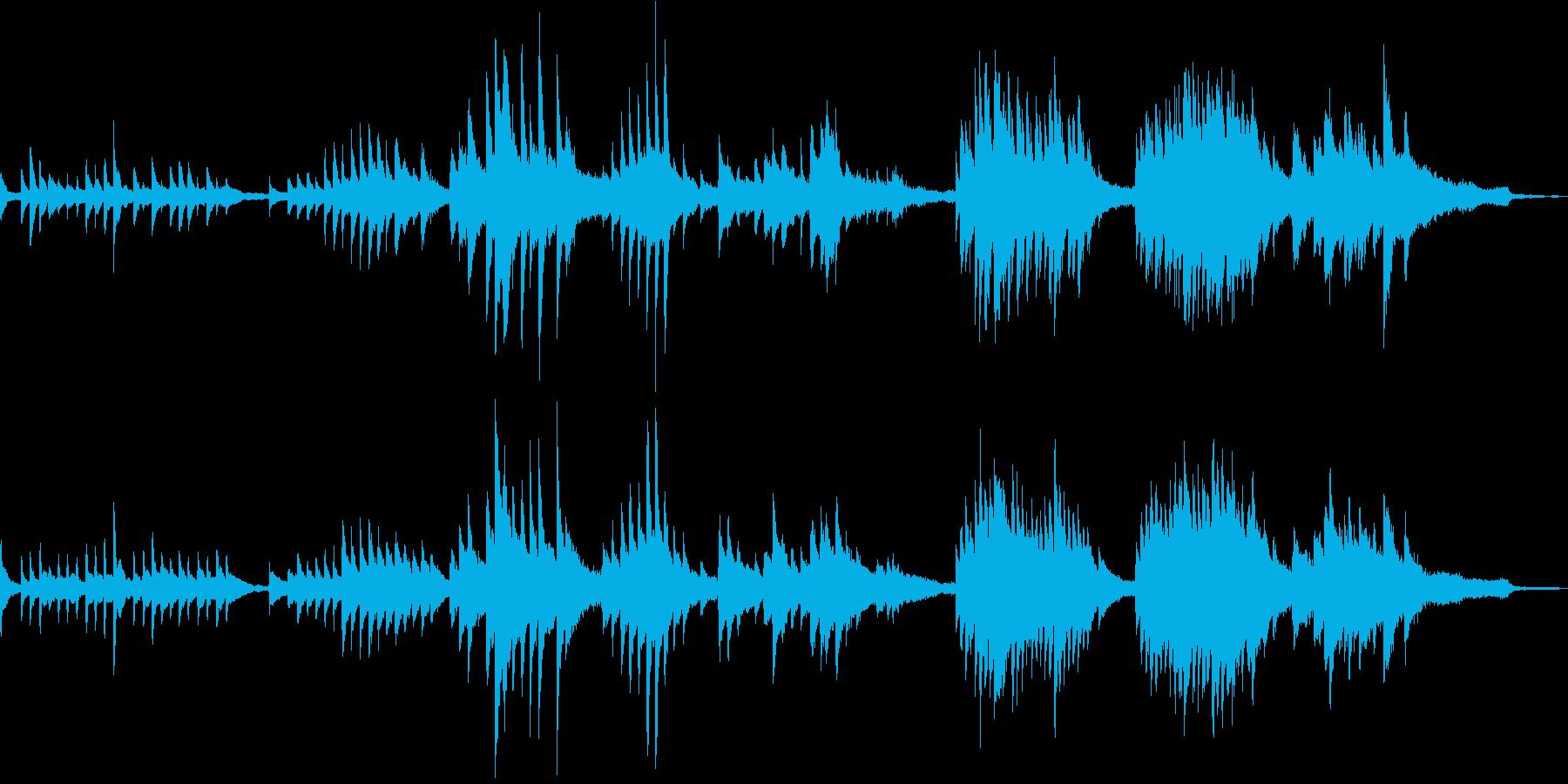 凛とした和風ミュージックの再生済みの波形