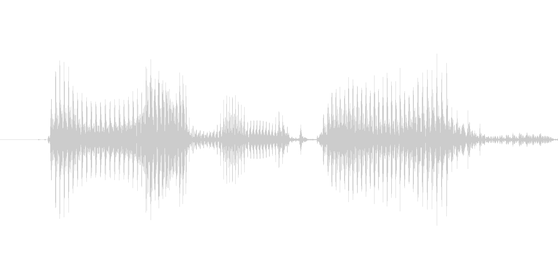 「11 AM」英語発音の未再生の波形